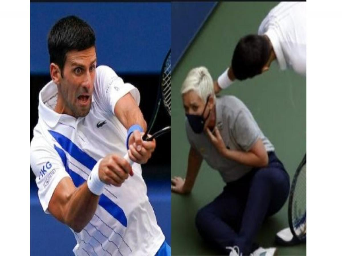Novak Djokovic Out Of Us Open After Hitting Official With Tennis Ball Djokovic Out Of Us Open After Hitting Official With Tennis Ball