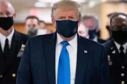 Trump Wears Face Mask In Public For First Time