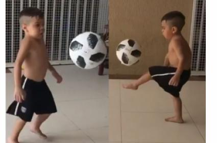 Brilliant: Young Boy Does Kick-Ups With Much Ease!