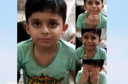 Little Boy Cries At The Idea Of Schools Reopening