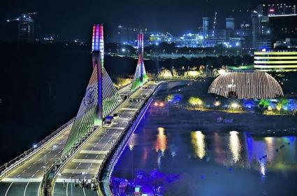 KTR Inaugurates Durgam Cheruvu Cable Bridge, Pics Are Dazzling