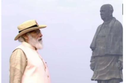 Modi Pays Tribute To Sardar Patel At Statue Of Unity