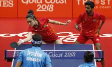Manika and Sathiyan defeated compatriots Achanta Sharath Kamal and Mouma Das 3-0 (11-6, 11-2, 11-4) in the play-off for the third position at the Oxenford Studios - Sakshi Post