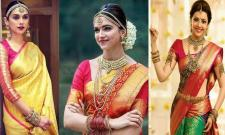 Aditi Rao Hydari, Deepika Padukone and Kajal Aggarwal in South Indian bridal look! - Sakshi Post