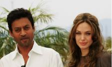 File Photo of Irrfan Khan with Angelina Jolie - Sakshi Post