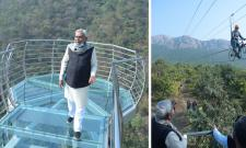 Pictures: Bihar Sky Walk On Glass Bridge In Rajgir
