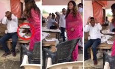 'Viral Video Of BJP's Sonali Phogat Slapping Official With Slipper'.
