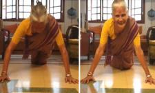 Milind Soman's 80-year-old Mom Usha Soman Does Pushups Effortlessly