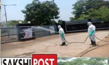 Sanitization measures through Disinfectant spraying being done by DRF across the city