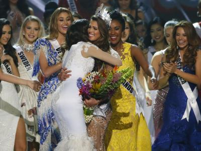 Iris Mittenaere (23), a dental student from France, has won the Miss Universe crown for 2016 in the annual pageant held this year in the Philippines. Iris is the 65th Miss Universe and was crowned by Miss Universe 2015 Pia Wurtzbach. - Sakshi Post