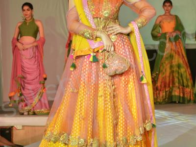 NIFT students sizzled when they walked the ramp in showcasing their Khadi designs at the NIFT auditorium in Madhapur on Friday, May 26, 2017. Telangana State Khadi Board director MA Quddus was the chief guest on the occasion. - Sakshi Post