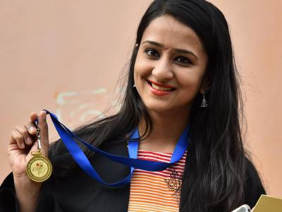 Degrees were presented to students of National Institute of Fashion Technology (NIFT) on its convocation held at its premises in Madhapur in Hyderabad on Tuesday. - Sakshi Post