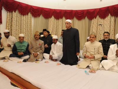 Governor for Andhra Pradesh and Telangana ESL Narasimhan hosted an Iftaar for Muslims at Raj Bhavan. The Iftaar was organised in view of the Ramzan festivities. Several VIPs attended the party.  - Sakshi Post