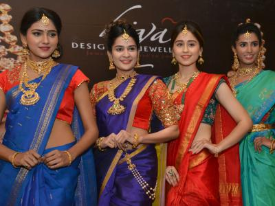 A curtain raiser of Hima Jewellary Expo scheduled to be conducted from July 14 to 16 at Green Park Mariegold at Ameerpet was held on Tuesday. Miss India USA Pranati Sharma, models participated. - Sakshi Post