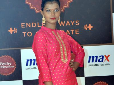Clothing brand Max released its new collection for the festival season at Himayatnagar store on Tuesday. - Sakshi Post