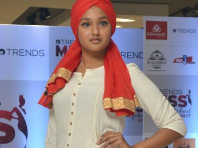 More than 100 enthusiastic and beautiful girls appeared for the auditions of the Trends Miss Hyderabad contest being conducted by Reliance Trends. - Sakshi Post