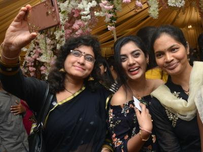 The H Label, a fashion expo, organised by the Hamstech Fashion Institute at Taj Deccan was a gala affair. Fashionista and industrialist Pinky Reddy inaugurated the event in which students showcased their designs. - Sakshi Post