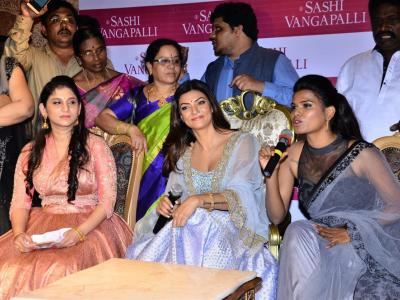 Actress and former Miss Universe Sushmita Sen visited Hyderabad to inaugurate a botique on Raod No. 2, Banjara Hills. The botique is launched by designer Sasi Vangapally. - Sakshi Post