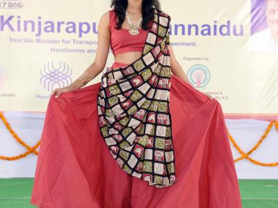 A Handlooms exhibition was put up at the SRMT function hall in Kakinada on Monday in which various designs made by weavers from all 13 districts of AP were displayed.  - Sakshi Post