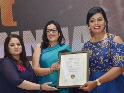 Sangita Bijlani's Tamanna Make-up Studio and Academy celebrated its anniversary at a hotel in Hyderabad on Thursday. Sakshi Media Group's Communications Director Rani Reddy, All India Hair and Beauty Association president Sangita Chouhan and othe