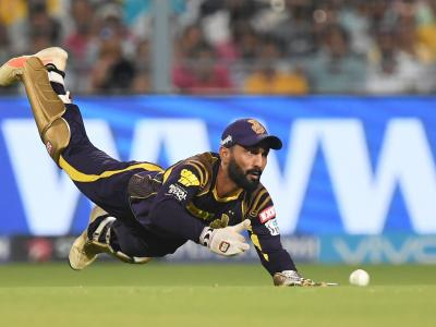 Stellar knocks by Shubman Gill (57*) and Dinesh Karthik (45*) helped Kolkata Knight Riders beat Chennai Super Kings by 6 wickets in their Indian Premier League clash on Thursday at the Eden Gardens. - Sakshi Post