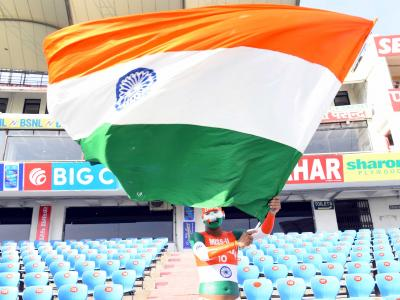 Indian cricket fans made the most of their Dasara holidays by thronging he Uppal stadium in Hyderabad where the second test match between India and West Indies is underway. - Sakshi Post