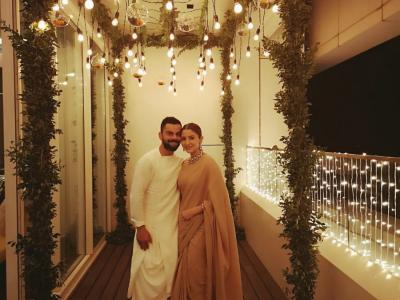 Cricketers took a break off field to spend time with their loved ones on the occasion of Diwali, the festival of lights. - Sakshi Post