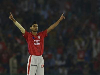 Kings XI Punjab's owner Preity Zinta looked visibly thrilled at her team's win the IPL Twenty20 match against Rajasthan Royals in Mohali on Tuesday. - Sakshi Post