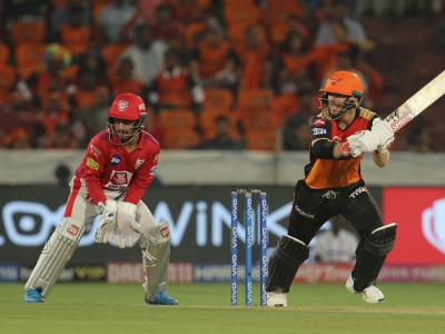 Sunrisers Hyderabad returned to winning ways by defeating Kings XI Punjab by 45 runs, thus staying in the race for play-offs. - Sakshi Post