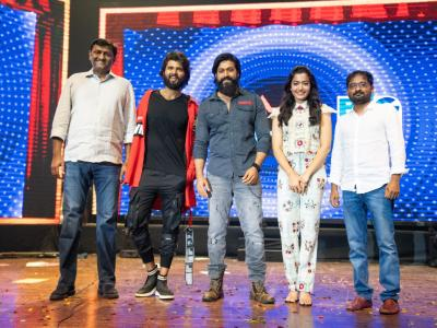 The music festival of Vijay Deverakonda's upcoming film Dear Comrade was held in Bengaluru. KGF Actor Yash was the chief guest at the event - Sakshi Post