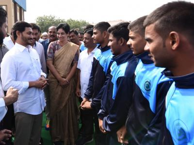 Pictures| AP CM YS Jagan Launches Development Activities,YSR Sports Complex  - Sakshi Post
