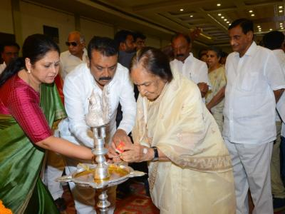 Several Telugu celebrities including Krishna, Nandamuri Balakrishna, Jaya Sudha paid homage to yesteryear actress Vijaya Nirmala at a prayer meeting held in Hyderabad - Sakshi Post