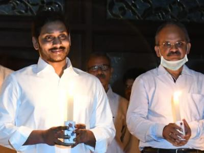 9-min Light Out Highlights: AP CM YS Jagan, Governor Light Candles  - Sakshi Post