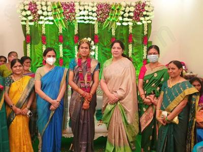 CM KCR Adopted Daughter Pratyusha Marriage Photos - Sakshi Post