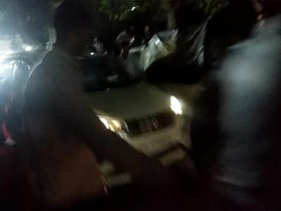 The car in which P  Chidambaram was escorted out