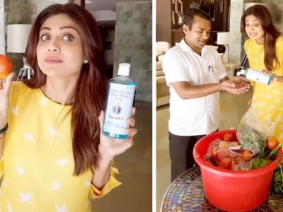 Shilpa Shetty's 'Be Saaf Be Safe' Slogan Sounds Perfect For A Sanitiser