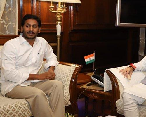File photo of AP CM YS Jagan with Amit Shah - Sakshi Post
