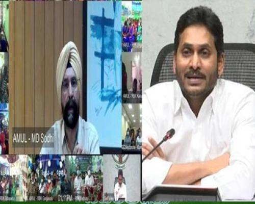 AP CM YS Jagan Mohan Reddy launches AP Amul Project in Guntur - Sakshi Post