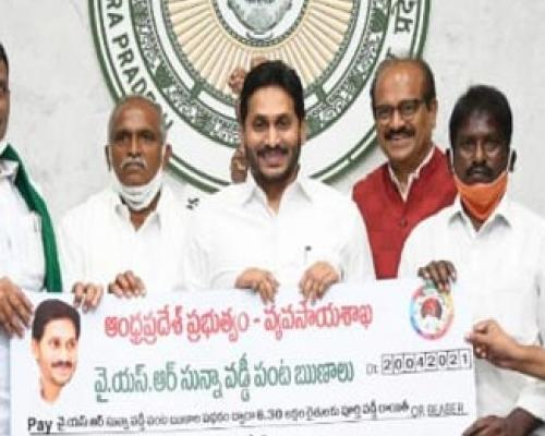 AP CM YS Jagan  credits Rs 128.47 crore: YSR Zero-Interest Crop Loan - Sakshi Post