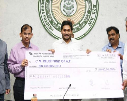 APMDC donates Rs 100 cr. to CMRF - Sakshi Post