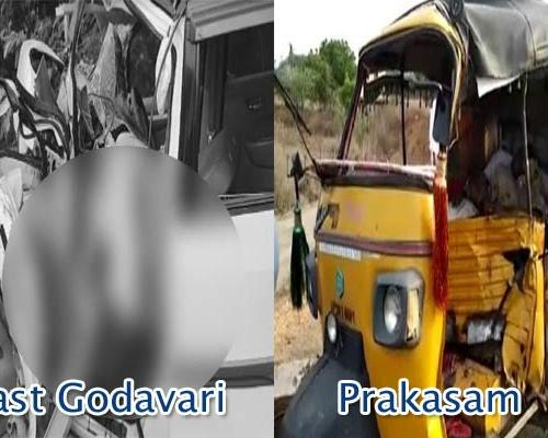 Separate Road Mishaps in Prakasam, East Godavari Claims Six Lives - Sakshi Post