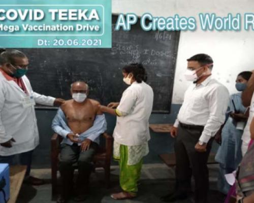 AP Creates World Record With Vaccination Drive, 13 Lakh+ People Vaccinated In One Day! - Sakshi Post