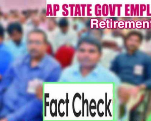 Fact Check on Fake News about Retirement Age of AP Government Employees - Sakshi Post