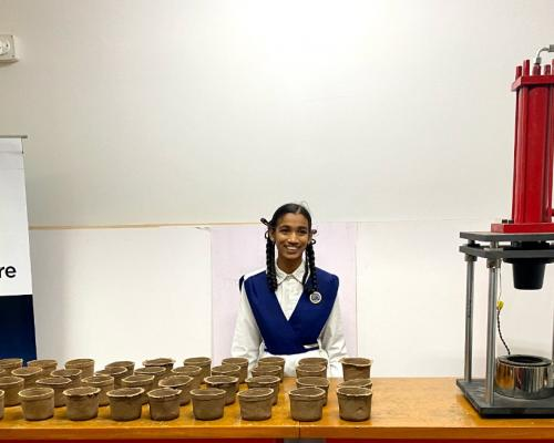 T Works Enables Mass Production Of Biodegradable Pots Invented By Gadwal Student - Sakshi Post