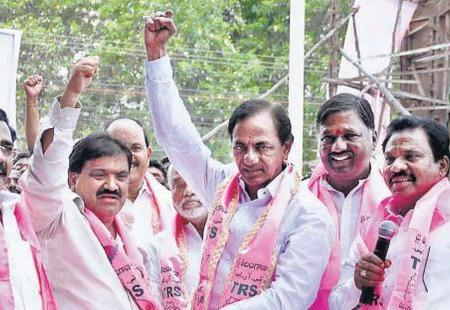 KCR elected as party leader in Assembly by TRS MLAs - Sakshi Post