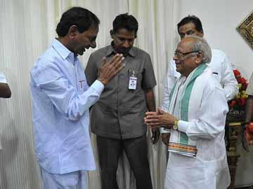 Why KCR is bowing to this man? - Sakshi Post