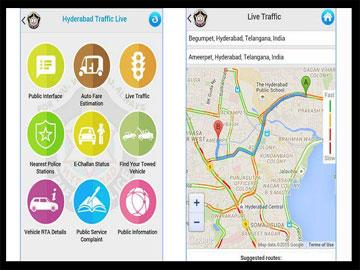 'Hyderabad Traffic Live App', Easing Out Traffic Issues in City - Sakshi Post
