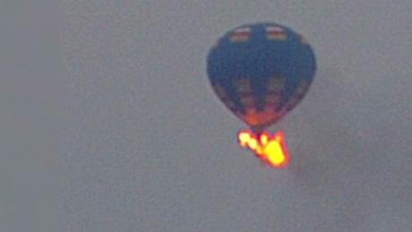 The hot air balloon caught fire and crashed near Lockhart, a city in the central part of the US state of Texas. - Sakshi Post