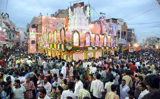 The Lal Darwaza temple is all decked up for the Bonalu festivities on Sunday, with thousands of devotees thronging the historic temple in the city. - Sakshi Post