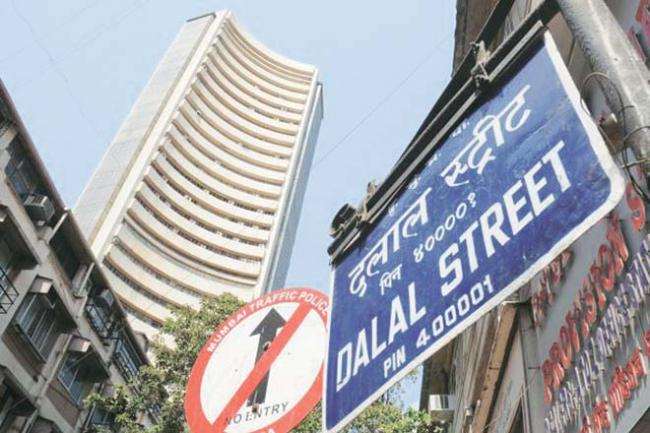 The market benchmark Sensex fell over 97 points and NSE Nifty slipped below the 8,700-mark as investors booked profits after the RBI on Tuesday maintained status quo in its monetary policy review. - Sakshi Post
